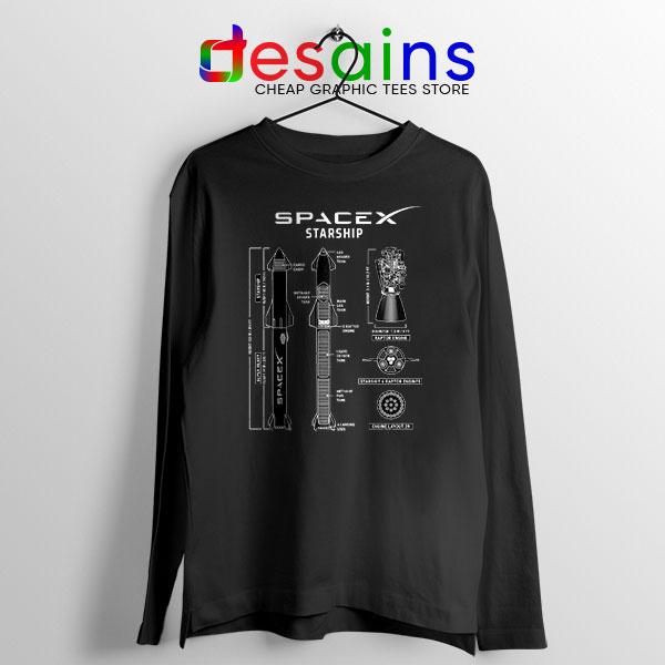 Spacex Starship Prototype Long Sleeve Tee Elon Musk