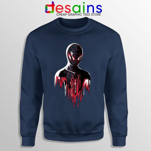 Spider Man Into Multiverse Navy Sweatshirt Marvel Comics