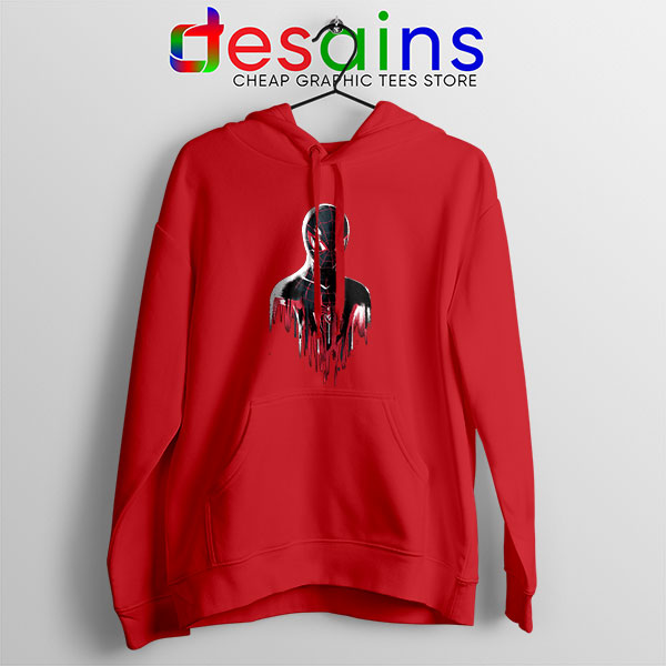 Spider Man Into Multiverse Red Hoodie Marvel Comics