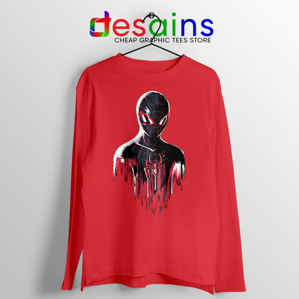 Spider Man Into Multiverse Red Long Sleeve Tee Marvel