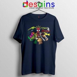 Spider Man Multiverse Vilains Navy T Shirt No Way Home