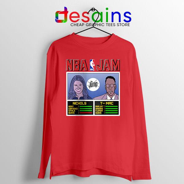 The Jump NBA Finals Red Long Sleeve Tee Nichols TMac
