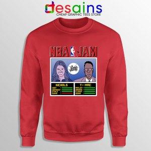 The Jump NBA Finals Red Sweatshirt Nichols TMac