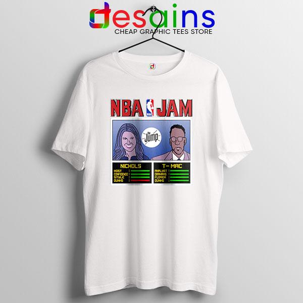 The Jump NBA Finals White T Shirt Nichols TMac