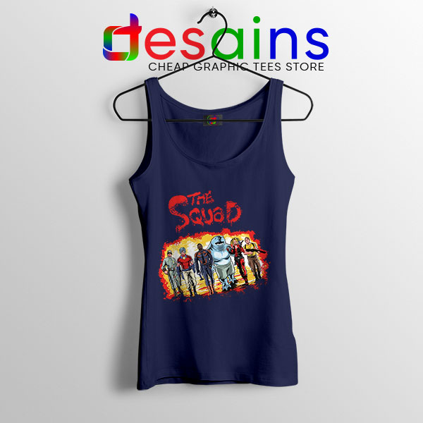 The New Suicide Squad Navy Tank Top DC Comics