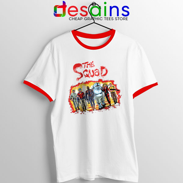 The New Suicide Squad Red Ringer Tee DC Comics