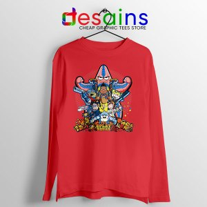 The Splat Suicide Squad Red Long Sleeve Tee Nicksplat Shows