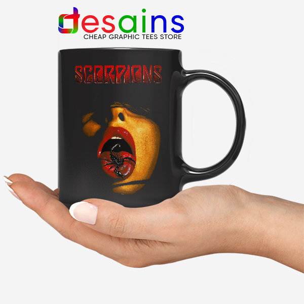 Vintage Scorpions Merch Mug Rock Band