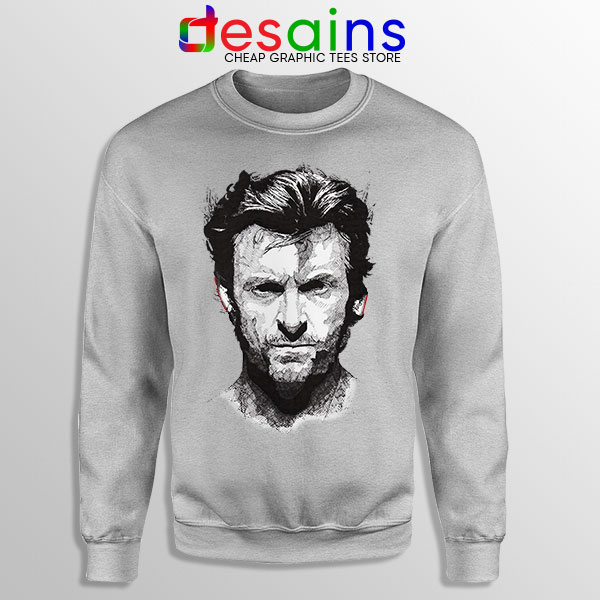 X Men Wolverine Art SPort Grey Sweatshirt Hugh Jackman