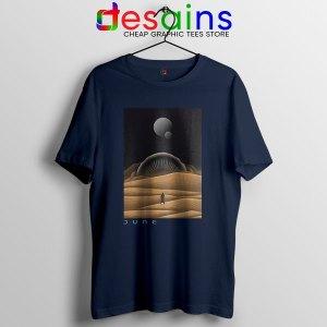 Arrakis Dune Desert Art Navy T Shirt Planet Deserts