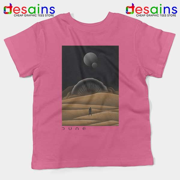 Arrakis Dune Desert Art Pink Kids Tee Planet Deserts
