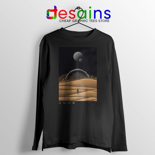 Arrakis Dune Desert Black Long Sleeve Tee Planet Dune