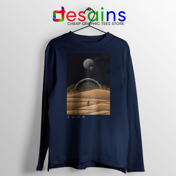 Arrakis Dune Desert Navy Long Sleeve Tee Planet Dune