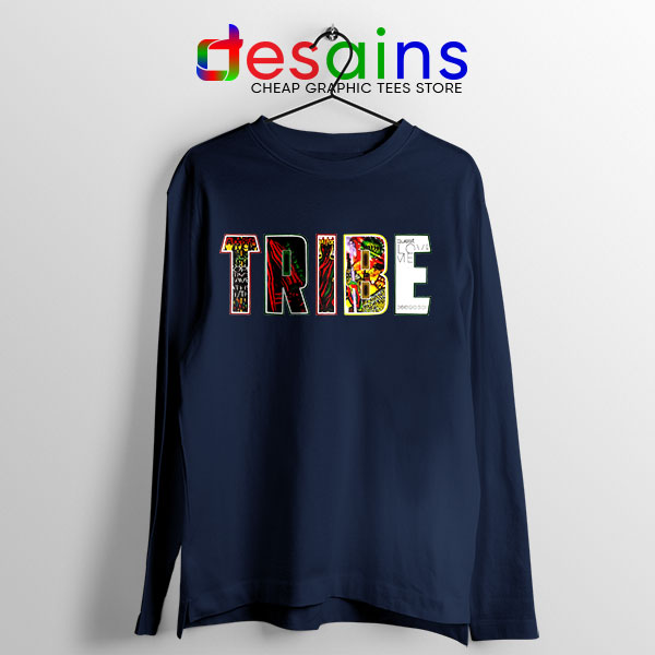 Best Tribe Called Quest Merch Navy Long Sleeve Tee Beat Atcq