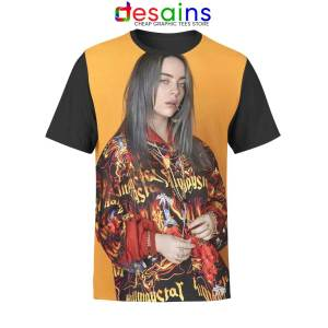 Billie Eilish Pose Unisex AOP Tshirt