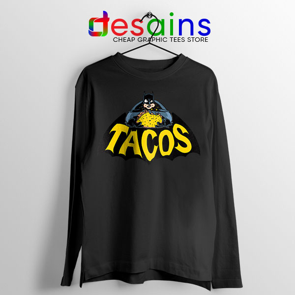Buy Tacos Taco Bell Batman Black Long Sleeve Tee DC Comics