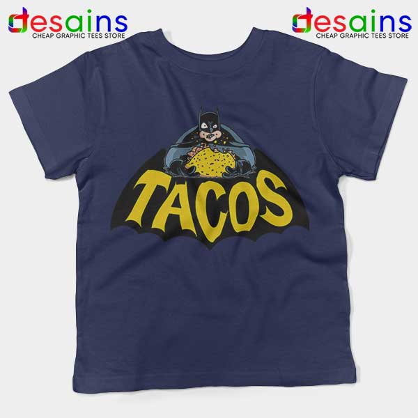 Buy Tacos Taco Bell Batman Navy Kids Tee DC Comics