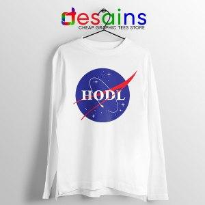 Crypto HODL NASA logo Long Sleeve Tee Meme