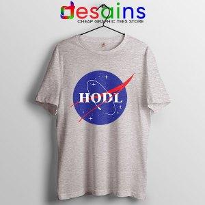 Crypto HODL NASA logo Sport Grey T Shirt Meme