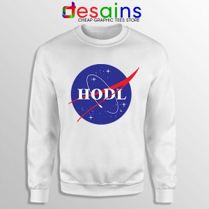 Crypto HODL NASA logo Sweatshirt Meme
