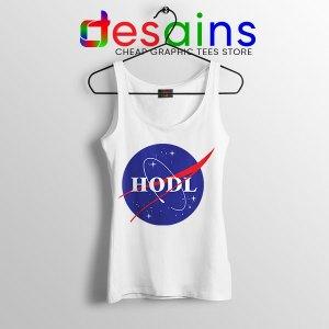 Crypto HODL NASA logo Tank Top Meme
