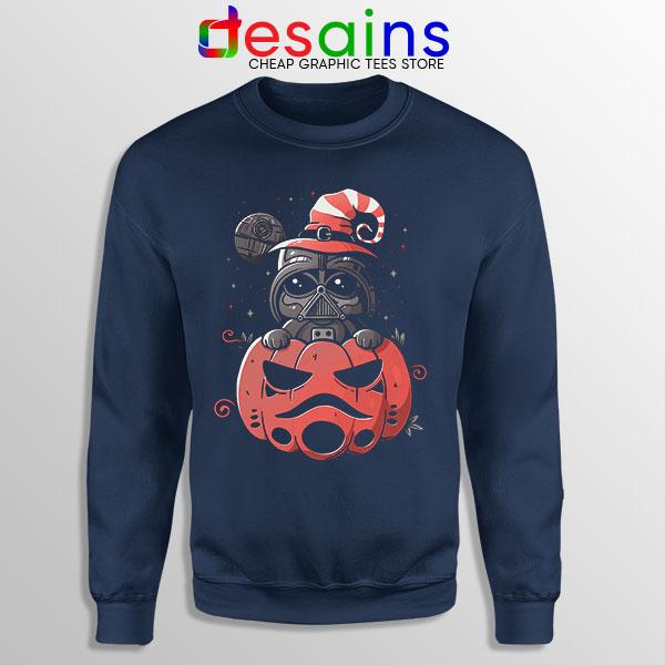 Darth Vader Pumpkin Navy Sweatshirt Halloween Gifts