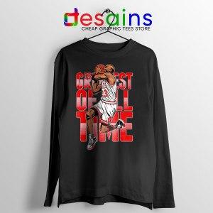 GOAT Michael Jordan Fire Red Black Long Sleeve Tee Retro