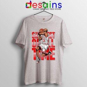 GOAT Michael Jordan Fire Red Sport Grey Tshirt Retro NBA