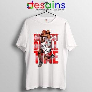 GOAT Michael Jordan Fire Red Tshirt Retro NBA