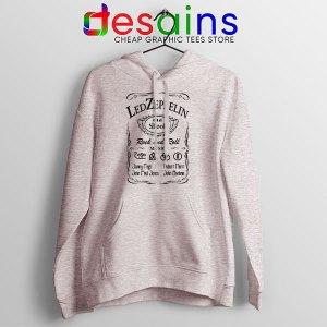 Led Zepelin Whiskey Sport Grey Hoodie Old School Daniels