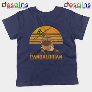 Master Po Mandalorian Navy Kids Tee Kung Fu Panda