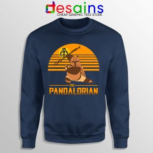 Master Po Mandalorian Navy Sweatshirt Kung Fu Panda