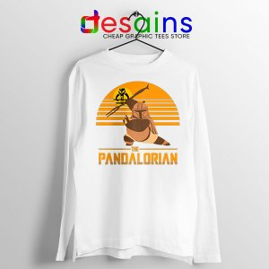Master Po Mandalorian White Long Sleeve Tee Kung Fu Panda