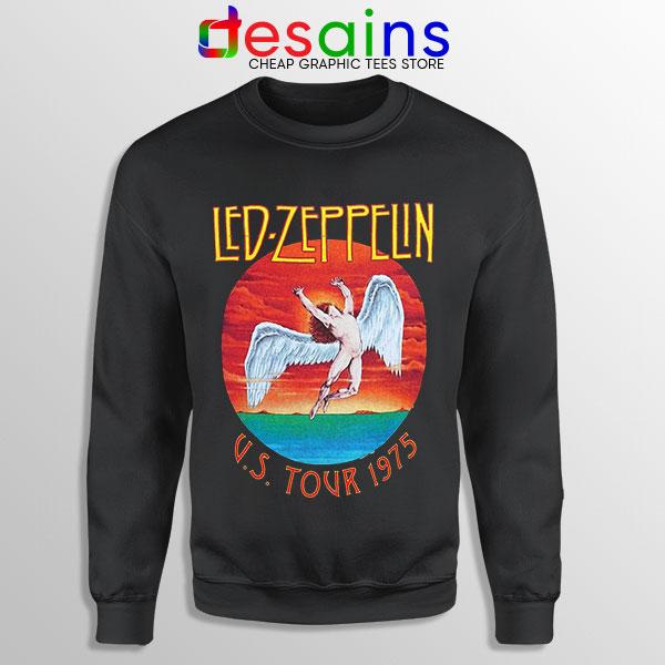 North American Tour 1975 Black Sweatshirt Led Zeppelin Merch