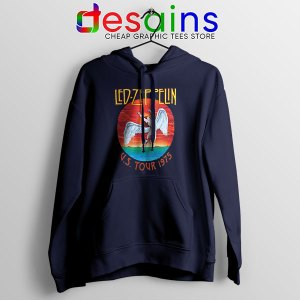 North American Tour 1975 Merch Hoodie Led Zeppelin