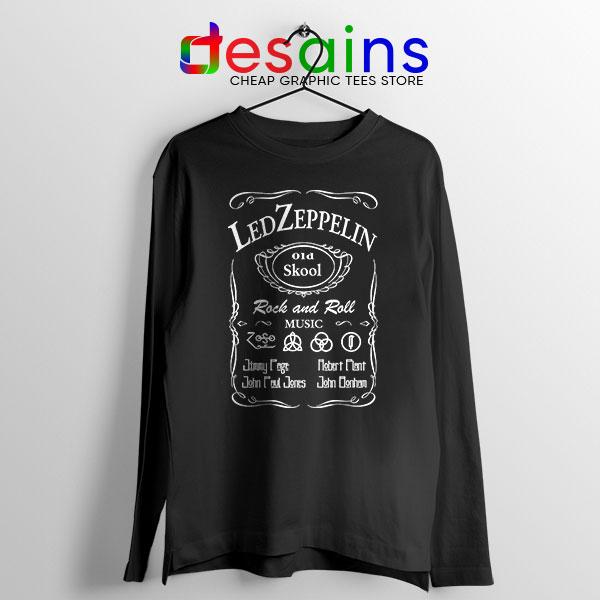 Old No 7 Led Zepelin Long Sleeve Tee Whiskey School