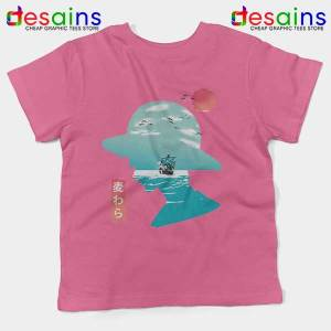 One Piece Good Day to Sail Pink Kids Tee Monkey D Luffy
