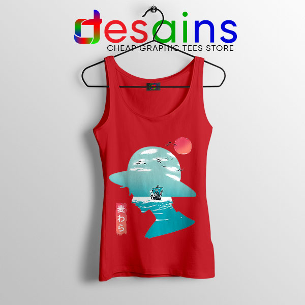 One Piece Good Day to Sail Red Tank Top Monkey D Luffy
