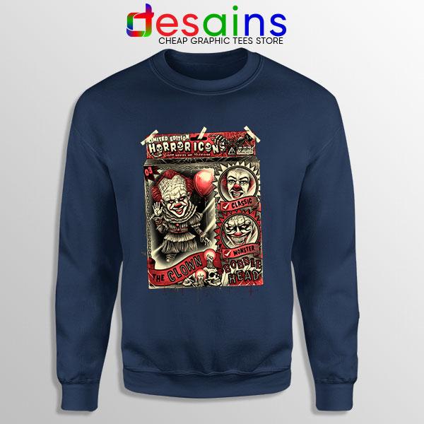 Pennywise The Clown Bobblehead Navy Sweatshirt IT Movie