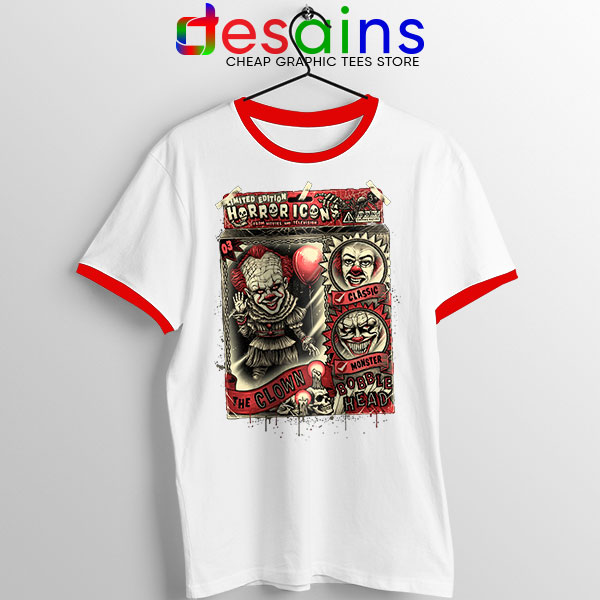 Pennywise The Clown Bobblehead Red Ringer Tee IT Movie