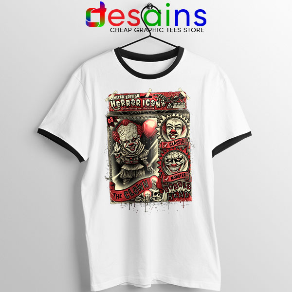 Pennywise The Clown Bobblehead Ringer Tee IT Movie