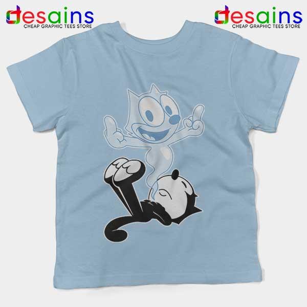 RIP the Cat Felix Funny Light Blue Kids Tee Cartoon Characters