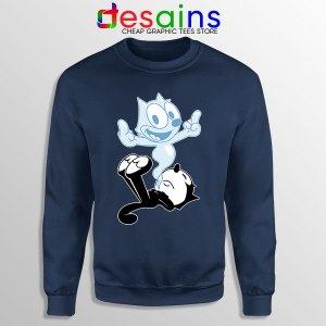 RIP the Cat Felix Funny Navy Sweatshirt Cartoon Characters