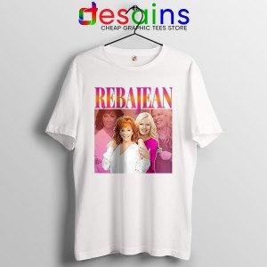 Reba McEntire Vintage White Tshirt RebaJean 90s