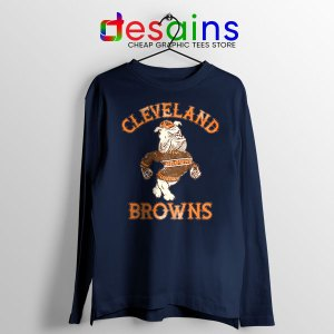 Retro Symbol Cleveland Browns Navy Long Sleeve Tee NFL