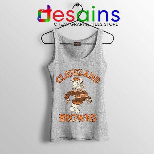 Retro Symbol Cleveland Browns Sport Grey Tank Top NFL