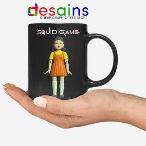 Squid Game Doll Mascot Black Mug Netflix Merch