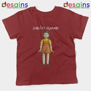 Squid Game Doll Mascot Red Kids Tee Netflix Merch