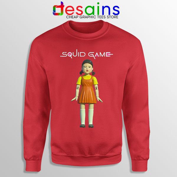 Squid Game Doll Mascot Red Sweatshirt Netflix Merch
