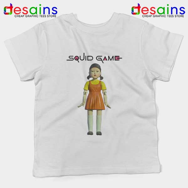 Squid Game Doll Mascot White Kids Tee Netflix Merch